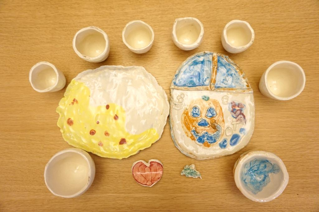 10月イベントの陶芸が仕上がりました!