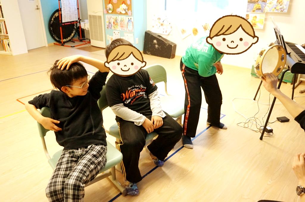 小学生チームは楽器ごとにパートがあります。