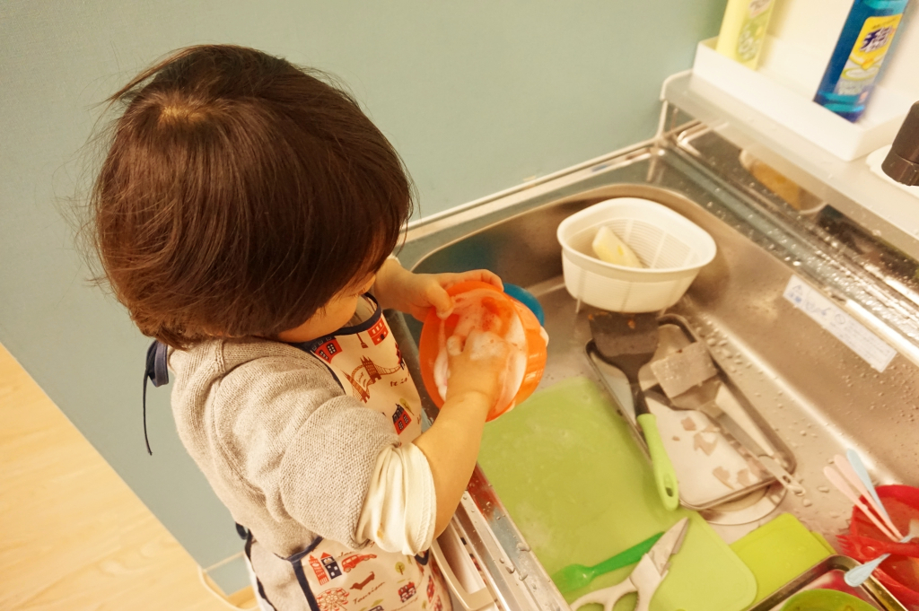 食器の洗いも出来ていますね♪